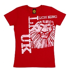 The Lion King Musical Collection Red Logo T-Shirt For Adults