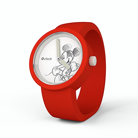Disney O'Clock Mickey Mouse Red Watch
