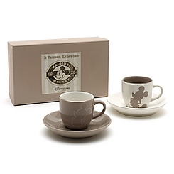 Mickey Mouse Silhouette Espresso Cup Twin Set