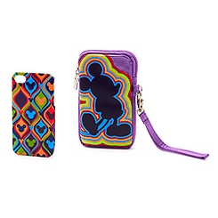 Mickey Mouse Retro Mobile Phone Clip Case and Carry Case Set