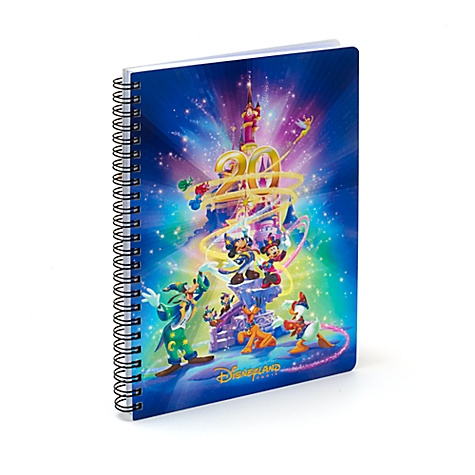 Disneyland Paris 20th Celebration A5 Holographic Spiral Bound Notebook