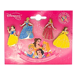 Disney Princess Pins, Pack of 4