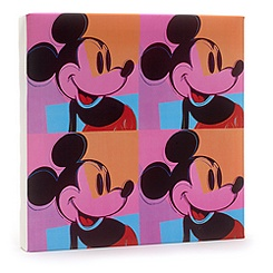 Mickey Mouse Pop Art Canvas Print