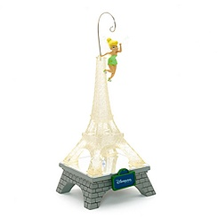 Tinker Bell Eiffel Tower Ornament With Light, Paris Collection