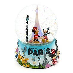 Disneyland Paris 20th Anniversary Light Up Snow Globe, Paris Collection