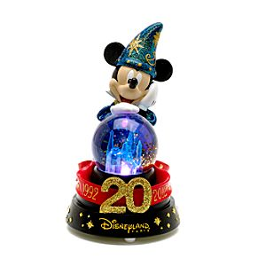 Disneyland Paris 20th Celebration Musical Light-Up Snow Globe