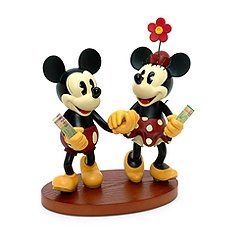 Mickey and Minnie Mouse Retro Figurine
