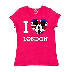 Girls' Minnie Mouse 'I Love London' T-Shirt For Kids