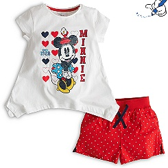 Minnie Mouse Shortie Set For Kids