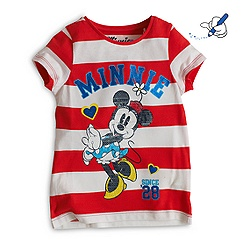 Minnie Mouse Striped T-Shirt For Kids