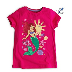 The Little Mermaid Pink T-Shirt For Kids