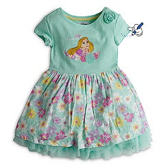 Rapunzel Floral Dress For Kids