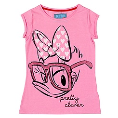 Ladies' Daisy Duck Nerd T-Shirt
