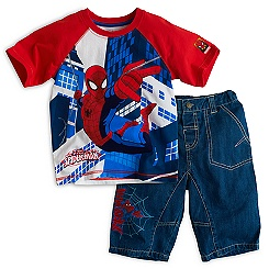 Spider-Man T-Shirt and Shorts For Kids