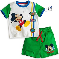 Mickey Mouse Short Sleeve Pyjamas For Kids