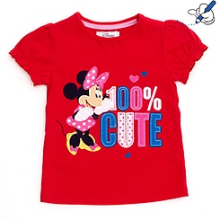 Minnie Mouse '100% Cute' T-Shirt For Kids