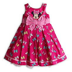 Minnie Mouse Bows Woven Dress For Kids