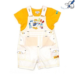 Donald Duck Short Leg Dungaree Set