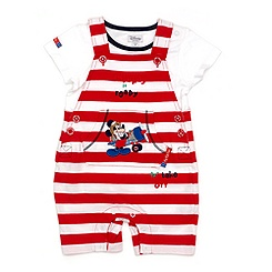 Mickey Mouse Short Leg Dungaree Set