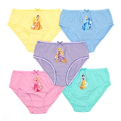 Disney Princess Pack of 5 Girls' Colour Briefs
