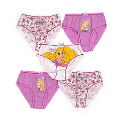 Rapunzel Pack of 5 Girls' Briefs