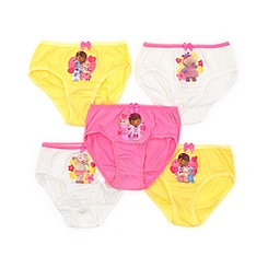 Doc McStuffins Girls' Briefs, Pack of 5
