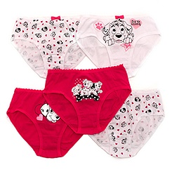 101 Dalmatians Girls' Briefs, Pack of 5