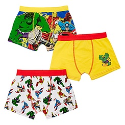 Marvel Comic Trunks For Boys, Pack of 3