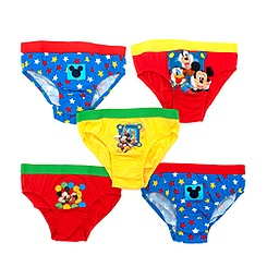 Mickey Mouse Pack of 5 Boys' Briefs