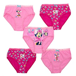 Minnie Mouse Pack of 5 Girls' Briefs