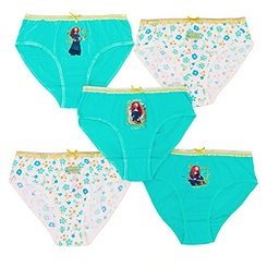 Brave Girls' Briefs, Pack of 5