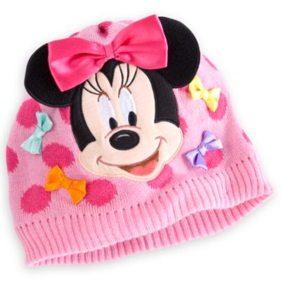 Knitted Minnie Mouse Hat Pattern : Minnie Mouse Knitted Hat for Kids Hats & Caps Disney Store