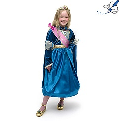 Merida Costume Dress With Cape