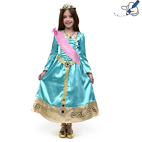 Merida Turquoise Costume Dress