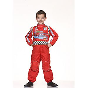Disney Pixar Cars 2 McQueen Racing Driver Costume