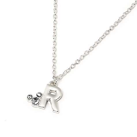Mickey Mouse Initial Pendant Necklace