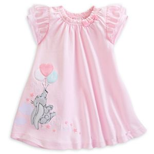 Dumbo Layette Pink Baby Dress and Briefs