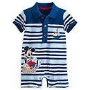 Mickey Mouse Baby Pique Romper