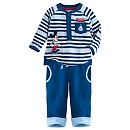 Mickey Mouse Baby Knitted Top And Trousers Set