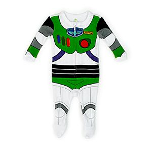 Buzz Lightyear Baby Character Sleepsuit-0-3 Months - Buzz Lightyear Gifts