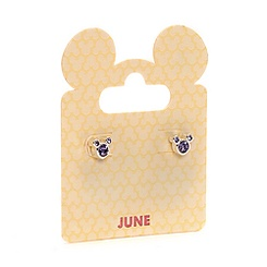 Mickey Mouse Swarovski Birthstone Earrings - June