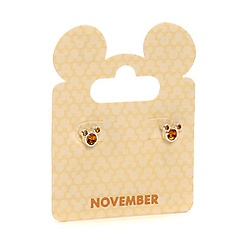 Mickey Mouse Swarovski Birthstone Earrings - November