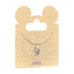 Mickey Mouse Swarovski Birthstone Necklace - April