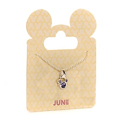 Mickey Mouse Swarovski Birthstone Necklace - June