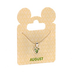 Mickey Mouse Swarovski Birthstone Necklace - August