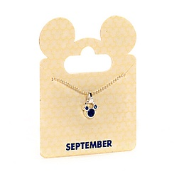 Mickey Mouse Swarovski Birthstone Necklace - September