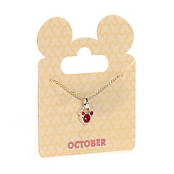 Mickey Mouse Swarovski Birthstone Necklace - October