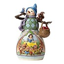 Disney Traditions Snow White and the Seven Dwarfs Snowman Figurine