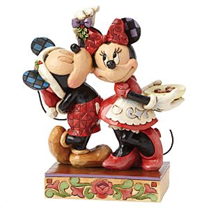 Disney Traditions Mickey and Minnie Mouse Mistletoe Figurine - Mistletoe Gifts