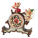 Disney Traditions Jaq and Gus Working Clock Figurine
